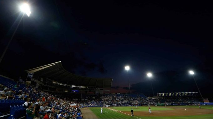 PORT ST. LUCIE, FL - FEBRUARY 25: The New York Mets play the Washington Nationals at Tradition Field on February 25, 2013 in Port St. Lucie, Florida.
