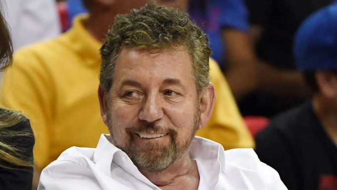 LAS VEGAS, NEVADA - JULY 07: Executive chairman and CEO of The Madison Square Garden Company and executive chairman of MSG Networks James L. Dolan attends a game between the New York Knicks and the Phoenix Suns during the 2019 NBA Summer League at the Thomas & Mack Center on July 7, 2019 in Las Vegas, Nevada. NOTE TO USER: User expressly acknowledges and agrees that, by downloading and or using this photograph, User is consenting to the terms and conditions of the Getty Images License Agreement.
