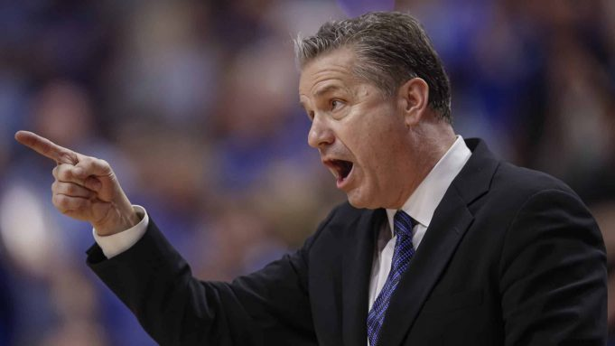 LEXINGTON, KY - FEBRUARY 04: Head coach John Calipari of the Kentucky Wildcats calls out during the second half against the Mississippi State Bulldogs at Rupp Arena on February 4, 2020 in Lexington, Kentucky.
