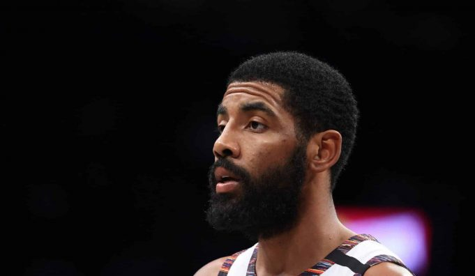 NEW YORK, NEW YORK - JANUARY 18: Kyrie Irving #11 of the Brooklyn Nets takes a looks on against the Milwaukee Bucks during their game at Barclays Center on January 18, 2020 in New York City.