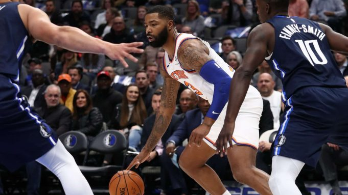 DALLAS, TEXAS - NOVEMBER 08: Marcus Morris Sr. #13 of the New York Knicks at American Airlines Center on November 08, 2019 in Dallas, Texas. NOTE TO USER: User expressly acknowledges and agrees that, by downloading and or using this photograph, User is consenting to the terms and conditions of the Getty Images License Agreement.