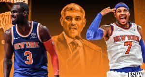 Tim Hardaway Jr., Carmelo Anthony, Steve Mills