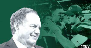 New York Jets Bill Belichick, Tom Brady, Sam Darnold