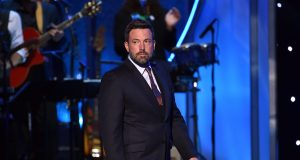 LOS ANGELES, CA - JULY 15: Actor Ben Affleck speaks onstage during The 2015 ESPYS at Microsoft Theater on July 15, 2015 in Los Angeles, California.