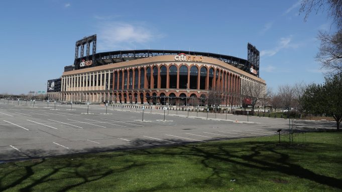 FLUSHING, NEW YORK - MARCH 26: Citi Field is empty on the scheduled date for Opening Day March 26, 2020 in Flushing, New York. Major League Baseball has postponed the start of its season due to the coronavirus (COVID-19) outbreak and MLB commissioner Rob Manfred recently said the league is