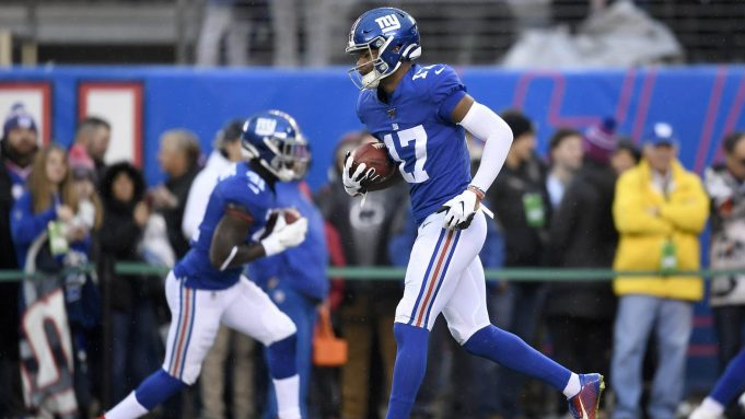 EAST RUTHERFORD, NEW JERSEY - DECEMBER 29: Cody Core #17 of the New York Giants warms up prior to the game against the Philadelphia Eagles at MetLife Stadium on December 29, 2019 in East Rutherford, New Jersey.