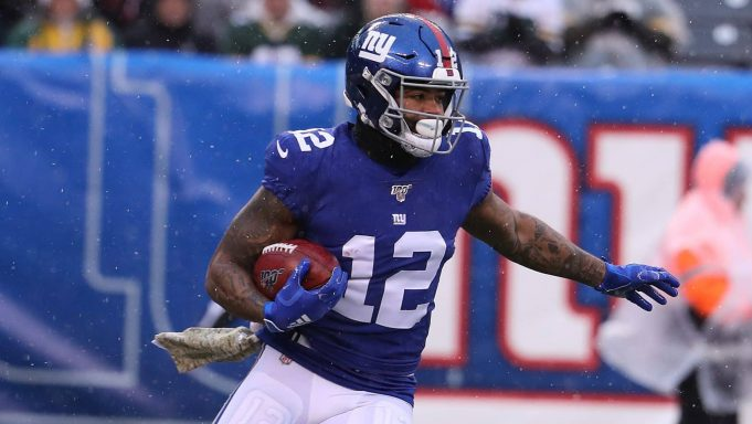 EAST RUTHERFORD, NEW JERSEY - DECEMBER 01: Cody Latimer #12 of the New York Giants in action against the Green Bay Packers during their game at MetLife Stadium on December 01, 2019 in East Rutherford, New Jersey.