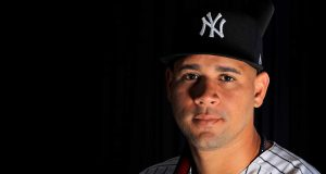 TAMPA, FLORIDA - FEBRUARY 20: Gary Sanchez #24 of the New York Yankees poses for a portrait during photo day on February 20, 2020 in Tampa, Florida.