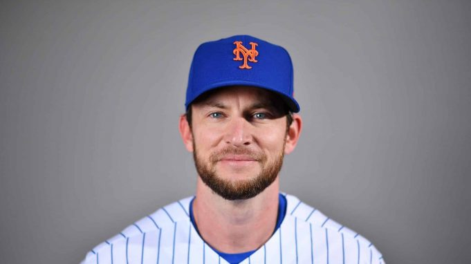 PORT ST. LUCIE, FLORIDA - FEBRUARY 20: Jed Lowrie #4 of the New York Mets poses for a photo during Photo Day at Clover Park on February 20, 2020 in Port St. Lucie, Florida.