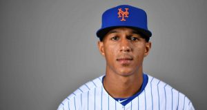 PORT ST. LUCIE, FLORIDA - FEBRUARY 20: Johneshwy Fargas #81 of the New York Mets poses for a photo during Photo Day at Clover Park on February 20, 2020 in Port St. Lucie, Florida.