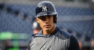 TAMPA, FLORIDA - FEBRUARY 24: Gleyber Torres #25 of the New York Yankees looks on during batting practice before the spring training game against the Pittsburgh Pirates at Steinbrenner Field on February 24, 2020 in Tampa, Florida.