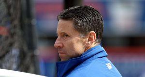 NEW YORK, NY - APRIL 03: Jeff Wilpon, Chief Operating Officer of the New York Mets, looks on during batting practice before the game between the New York Mets and the Atlanta Braves during Opening Day on April 3,2017 at Citi Field in the Flushing neighborhood of the Queens borough of New York City.