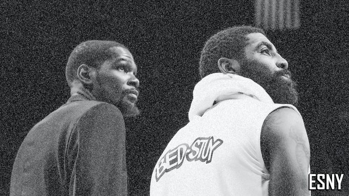Brooklyn Nets Kevin Durant. Kyrie Irving