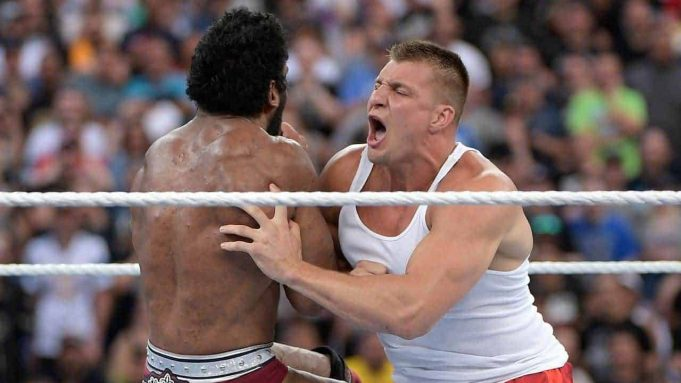 Rob Gronkowski at WWE's Wrestlemania
