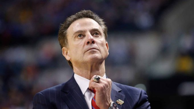 INDIANAPOLIS, IN - MARCH 19: Head coach Rick Pitino of the Louisville Cardinals reacts to their 69-73 loss to the Michigan Wolverines during the second round of the 2017 NCAA Men's Basketball Tournament at the Bankers Life Fieldhouse on March 19, 2017 in Indianapolis, Indiana.