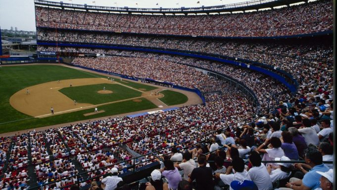 FLUSHING, NY - AUGUST 28: General view during the New York Mets game against the San Francisco Giants at Shea Stadium on August 28, 1988 in Flushing, New York.
