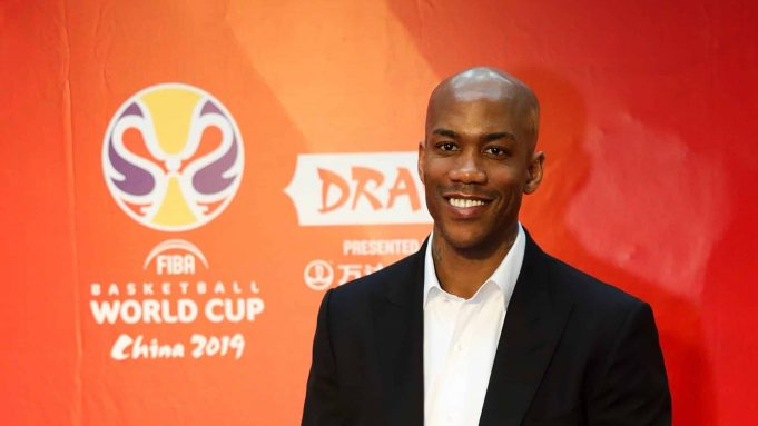 SHENZHEN, CHINA - MARCH 16: Former professional basketball player Stephon Marbury attend the FIBA Basketball World Cup 2019 Draw Ceremony at Shenzhen Bay Arena on March 16, 2019 in Shenzhen, China.