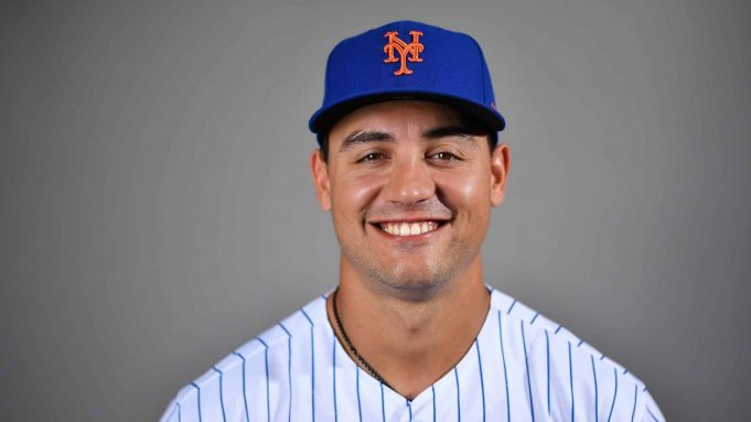 PORT ST. LUCIE, FLORIDA - FEBRUARY 20: Michael Conforto #30 of the New York Mets poses for a photo during Photo Day at Clover Park on February 20, 2020 in Port St. Lucie, Florida.