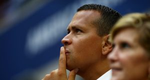 NEW YORK, NY - SEPTEMBER 10: Major League Baseball Player Alex Rodriguez of the New York Yankees attends the Women's Singles Final Match between Karolina Pliskova of the Czech Republic and Angelique Kerber of Germany on Day Thirteen of the 2016 US Open at the USTA Billie Jean King National Tennis Center on September 10, 2016 in the Flushing neighborhood of the Queens borough of New York City.
