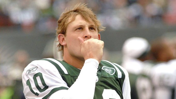 New York Jets Quarterback # 10 Chad Pennington on the sidelines during the Detroit Lions vs New York Jets game on October 22, 2006 The Meadowlands , East Rutherford, New Jersey Jets' 31-24 win over the Detroit Lions