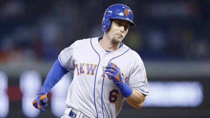 MIAMI, FLORIDA - JULY 14: Jeff McNeil #6 of the New York Mets rounds the bases after hitting a solo home run in the first inning against the Miami Marlins at Marlins Park on July 14, 2019 in Miami, Florida.