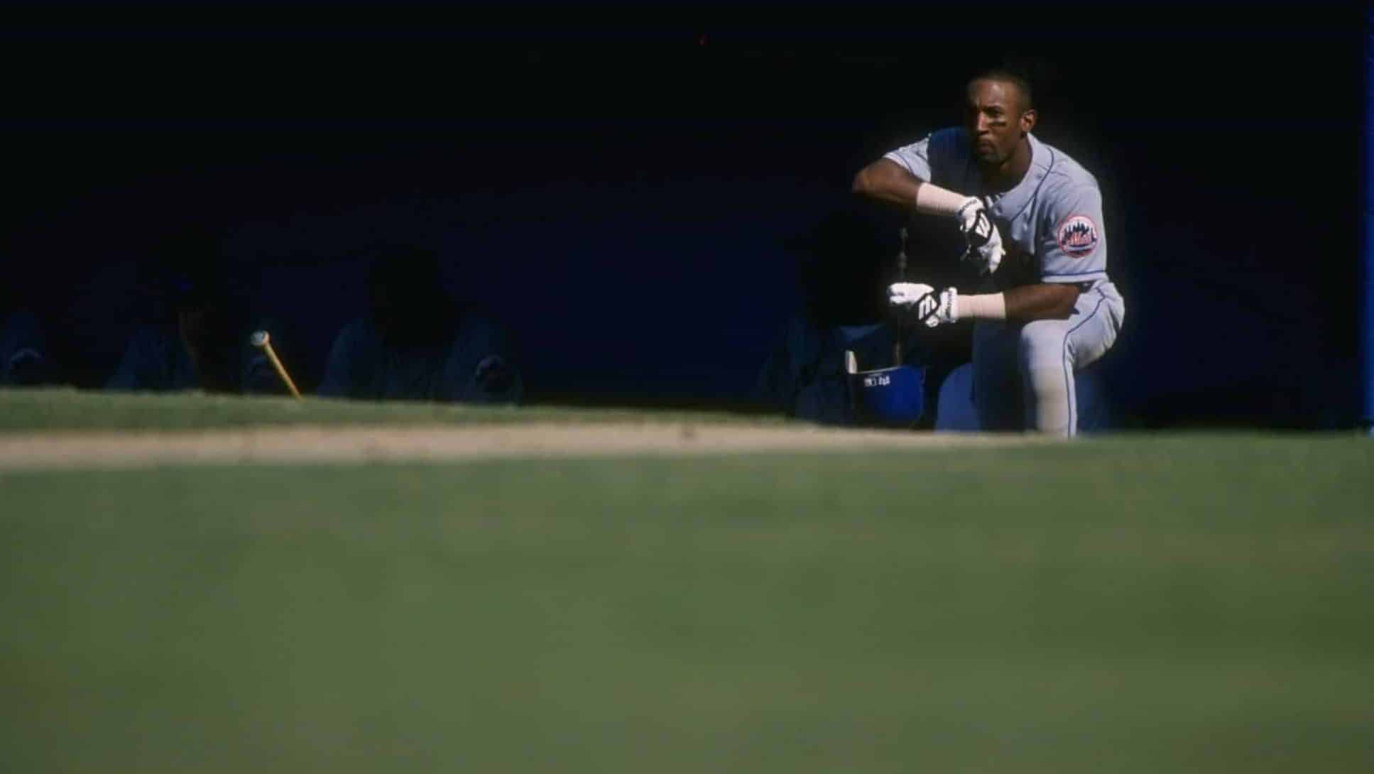 24 Aug 1996: Outfielder Lance Johnson of the New York Mets looks on during a game against the Los Angeles Dodgers at Dodger Stadium in Los Angeles, California. The Dodgers won the game, 7-5. Mandatory Credit:
