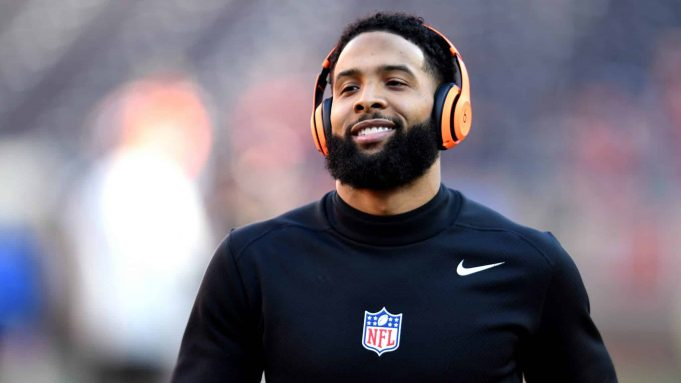CLEVELAND, OHIO - DECEMBER 22: Odell Beckham Jr. #13 of the Cleveland Browns warms up prior to the game against the Baltimore Ravens at FirstEnergy Stadium on December 22, 2019 in Cleveland, Ohio.