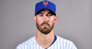 PORT ST. LUCIE, FLORIDA - FEBRUARY 20: Rick Porcello #22 of the New York Mets poses for a photo during Photo Day at Clover Park on February 20, 2020 in Port St. Lucie, Florida.