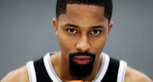 NEW YORK, NEW YORK - SEPTEMBER 27: Spencer Dinwiddie #8 of the Brooklyn Nets poses for a portrait during Media Day at HSS Training Center on September 27, 2019 in New York City.