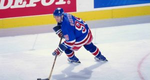 11 Dec 1998: Wayne Gretzky #99 of the New York Rangers in action during the game against the Buffalo Sabres at the Marine Midland Arena in Buffalo, New York. The Sabres defeated the Rangers 2-0.
