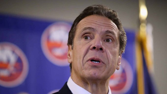 UNIONDALE, NEW YORK - FEBRUARY 29: New York Governor Andrew Cuomo announces that the New York Islanders will play at the Nassau Coliseum during this year's playoffs as well as during the 2020-2021 season during a press conference at NYCB Live's Nassau Coliseum on February 29, 2020 in Uniondale, New York.