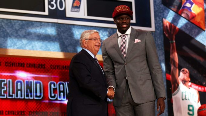 NEW YORK, NY - JUNE 27: Anthony Bennett of UNLV poses for a photo with NBA Commissioner David Stern after Bennett was drafted #1 overall in the first round by the Cleveland Cavaliers during the 2013 NBA Draft at Barclays Center on June 27, 2013 in in the Brooklyn Bourough of New York City. NOTE TO USER: User expressly acknowledges and agrees that, by downloading and/or using this Photograph, user is consenting to the terms and conditions of the Getty Images License Agreement.