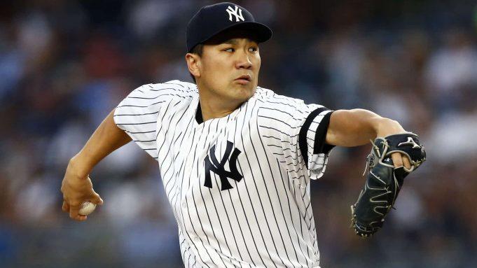 NEW YORK, NY - JUNE 17: Masahiro Tanaka #19 of the New York Yankees pitches against the Tampa Bay Rays during the third inning at Yankee Stadium on June 17, 2019 in the Bronx borough of New York City.