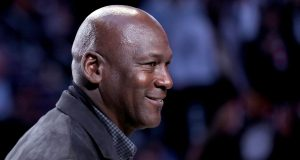 CHARLOTTE, NORTH CAROLINA - FEBRUARY 17: Michael Jordan, owner of the Charlotte Hornets, takes part in a ceremony honoring the 2020 NBA All-Star game during a break in play as Team LeBron take on Team Giannis in the fourth quarter during the NBA All-Star game as part of the 2019 NBA All-Star Weekend at Spectrum Center on February 17, 2019 in Charlotte, North Carolina. Team LeBron won 178-164. NOTE TO USER: User expressly acknowledges and agrees that, by downloading and/or using this photograph, user is consenting to the terms and conditions of the Getty Images License Agreement.