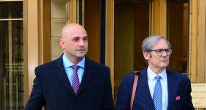 NEW YORK, NY - NOVEMBER 30: Craig Carton is seen leaving United States Court House on November 30, 2017 in New York City.
