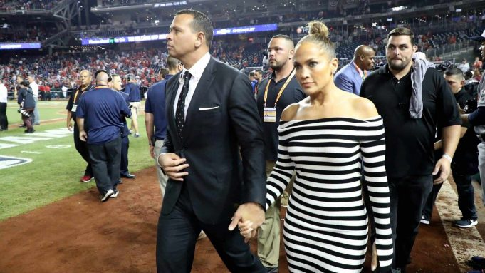 WASHINGTON, DC - JULY 17: Alex Rodriguez and Jennifer Lopez attend the 89th MLB All-Star Game, presented by Mastercard at Nationals Park on July 17, 2018 in Washington, DC. New York Mets