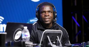 MIAMI, FLORIDA - JANUARY 30: NFL running back Frank Gore of the Buffalo Bills speaks onstage during day 2 of SiriusXM at Super Bowl LIV on January 30, 2020 in Miami, Florida. New York Jets