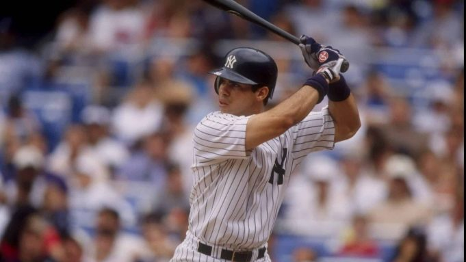 4 Jul 1998: Ricky Ledee #38 of the New York Yankees in action during a game against the Baltimore Orioles at Yankee Stadium in the Bronx, New York. The Yankees defeated the Orioles 4-3.