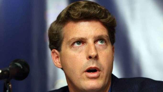 NEW YORK - JULY 20: New York Yankees Managing General Partner Hal Steinbrenner speaks during a press conference announcing that Yankee Stadium will play host to the 2010 Notre Dame v Army college football game on July 19, 2009 at Yankee Stadium in the Bronx borough of New York City. The game is to be played on November 20, 2010.