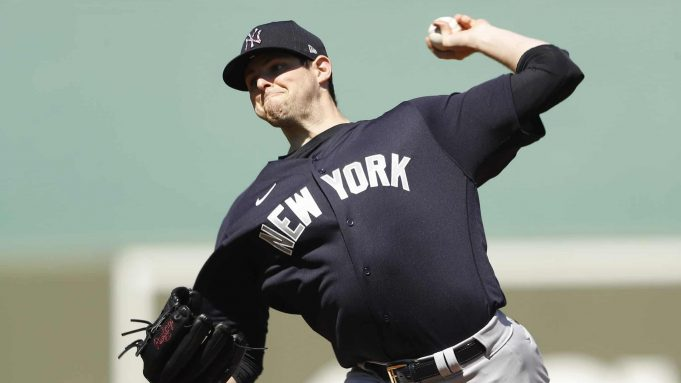 FORT MYERS, FLORIDA - FEBRUARY 29: Jordan Montgomery #47 of the New York Yankees delivers a pitch against the Boston Red Sox during the second inning of a Grapefruit League spring training game at JetBlue Park at Fenway South on February 29, 2020 in Fort Myers, Florida.