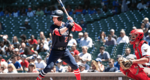 CHICAGO, IL - JULY 22: Pete Crow-Armstrong #21 bats during the Under Armour All-American Game at the Wrigley Field on July 22, 2019 in Chicago, Illinois.