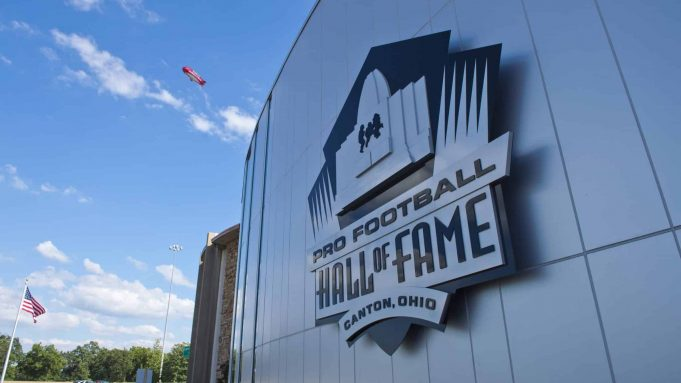 CANTON, OH - AUGUST 3: The exterior of the Pro Football Hall of Fame prior to the NFL Class of 2013 Enshrinement Ceremony at Fawcett Stadium on Aug. 3, 2013 in Canton, Ohio.