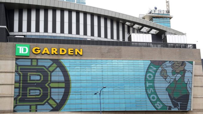 BOSTON, MASSACHUSETTS - MARCH 12: A view outside of TD Garden, the venue that hosts the Boston Bruins and Boston Celtics on March 12, 2020 in Boston, Massachusetts. It has been announced that NBA and NHL seasons have been suspended due to COVID-19 with hopes of returning later in the spring. The NBA, NHL, NCAA and MLB have all announced cancellations or postponements of events because of the virus.