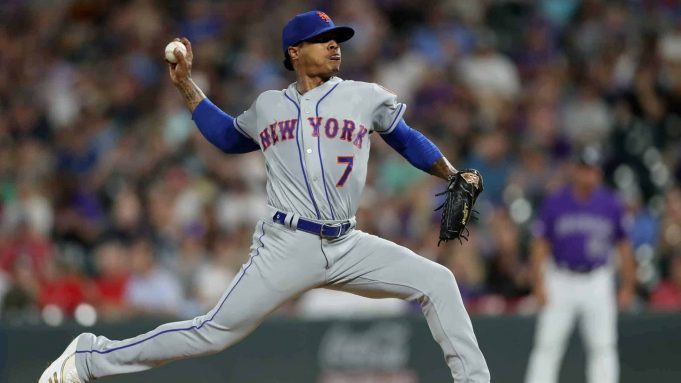 DENVER, COLORADO - SEPTEMBER 17: Marcus Stroman #7 of the New York Mets throws in the fifth inning against the Colorado Rockies at Coors Field on September 17, 2019 in Denver, Colorado.