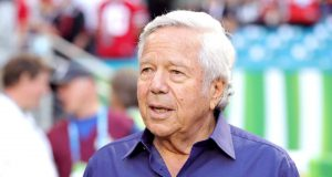 MIAMI, FLORIDA - FEBRUARY 02: New England Patriots owner Robert Kraft looks on prior to Super Bowl LIV between the San Francisco 49ers and the Kansas City Chiefs at Hard Rock Stadium on February 02, 2020 in Miami, Florida. New York Mets