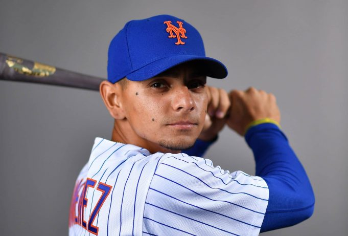 PORT ST. LUCIE, FLORIDA - FEBRUARY 20: Andres Gimenez #60 of the New York Mets poses for a photo during Photo Day at Clover Park on February 20, 2020 in Port St. Lucie, Florida.