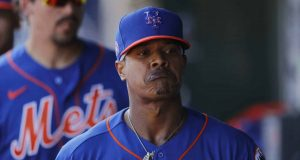 JUPITER, FLORIDA - FEBRUARY 22: Marcus Stroman #0 of the New York Mets reacts after being taken out of the game against the St. Louis Cardinals in the second inning of a Grapefruit League spring training game at Roger Dean Stadium on February 22, 2020 in Jupiter, Florida.