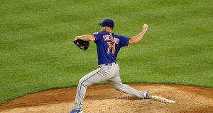 NEW YORK, NEW YORK - JULY 19: Hunter Strickland #71 of the New York Mets delivers a pitch in the fourth inning against the New York Yankees during Summer Camp play at Yankee Stadium on July 19, 2020 in the Bronx borough of New York City.