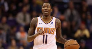 PHOENIX, ARIZONA - DECEMBER 13: Jamal Crawford #11 of the Phoenix Suns handles the ball during the NBA game against the Dallas Mavericks at Talking Stick Resort Arena on December 13, 2018 in Phoenix, Arizona. The Suns defeated the Mavericks 99-89. NOTE TO USER: User expressly acknowledges and agrees that, by downloading and or using this photograph, User is consenting to the terms and conditions of the Getty Images License Agreement.