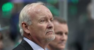 DALLAS, TX - DECEMBER 15: Head coach Lindy Ruff looks on as the Dallas Stars prepare to take on the New York Rangers at American Airlines Center on December 15, 2016 in Dallas, Texas.